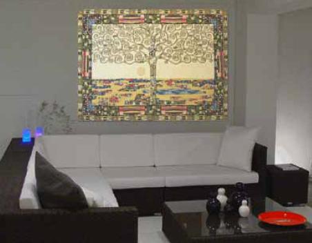 Gustav Klimt Tree of Life tapestry - wall tapestries display gallery
