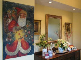 Santa Claus tapestry - Father Christmas wall-hanging