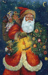 Santa Claus tapestry wall hanging on sale