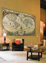 World Map tapestry - Orbis Terrae wall hanging