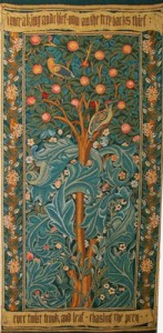 Arts and Crafts tapestries - William Morris Woodpecker tapestry
