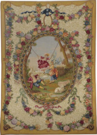 18th century Medallion tapestry - The Swing by Fragonard