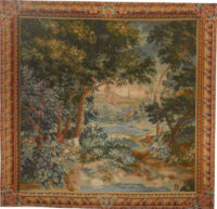 18th Century Verdure - French woodland wall tapestry
