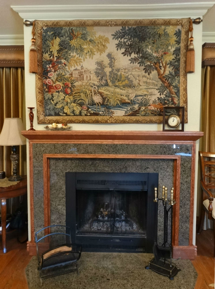 18th century French Aubusson tapestry reproduction