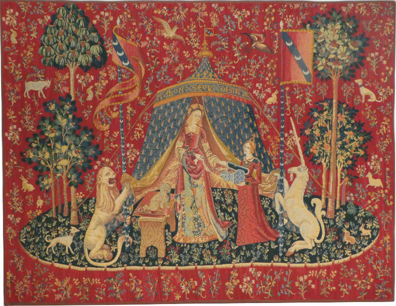 A Mon Seul Desir - Lady with the Unicorn medieval tapestry