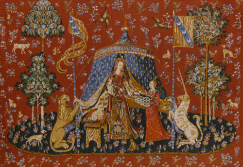 A Mon Seul Desir with no border - Lady with the Unicorn