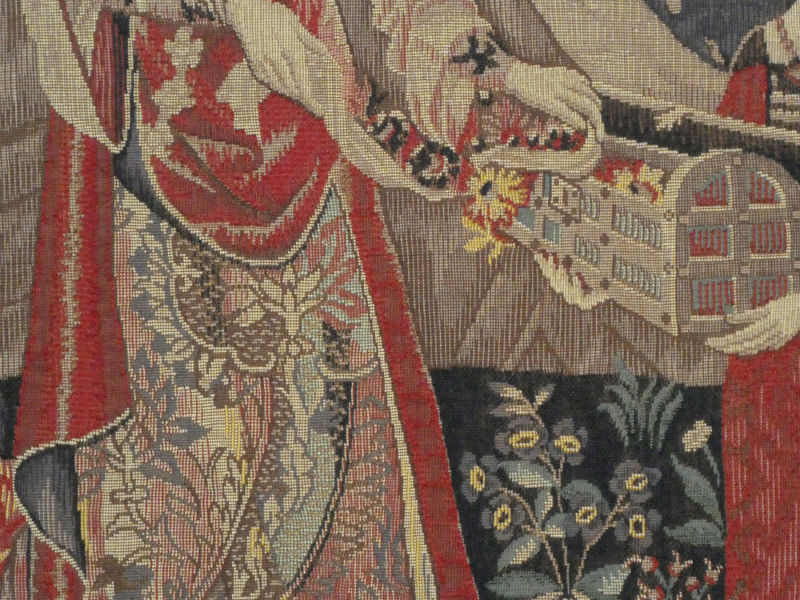 A Mon Seul Desir - tapestry wallhanging close up detail