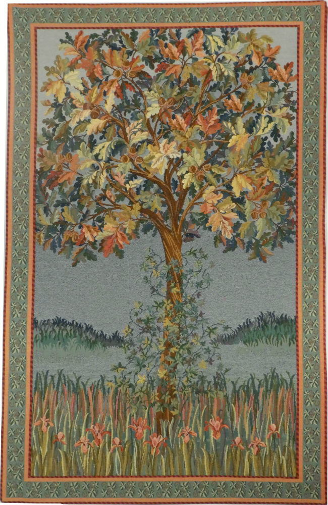 A Tree Of Life Tapestry Contemporary Belgian Wall Tapestries