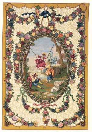18th century Medallion tapestry - Francois Boucher