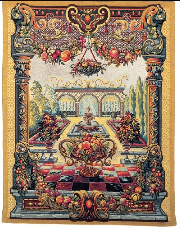 Jardin de Bagatelle tapestry - tapestries on sale