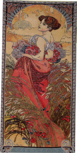 Summer - Mucha tapestry - The Seasons tapestries