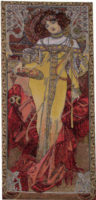 Autumn - Mucha tapestry - The Seasons wall tapestries