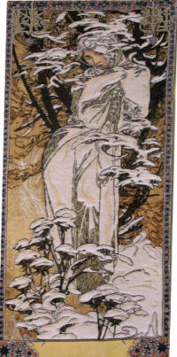 Winter - Mucha tapestry - The Seasons wall tapestries
