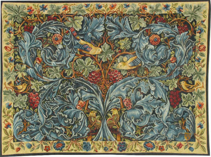 Acanthus and Vine tapestry - Cabbage and