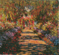 Allee de Monet tapestry - garden at Giverny tapestries