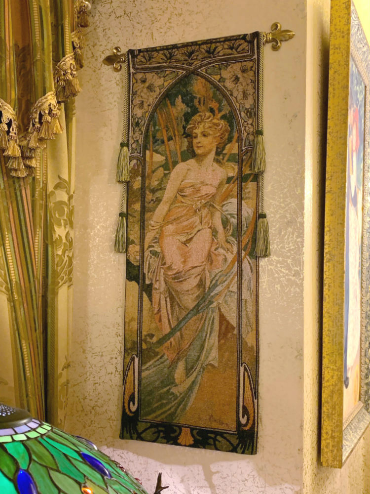 Alphonse Mucha Eveil du Matin tapestry