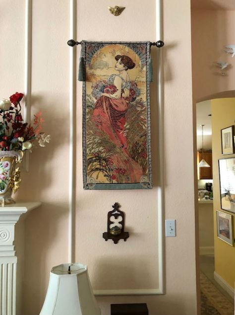 Alphonse Mucha Seasons tapestries