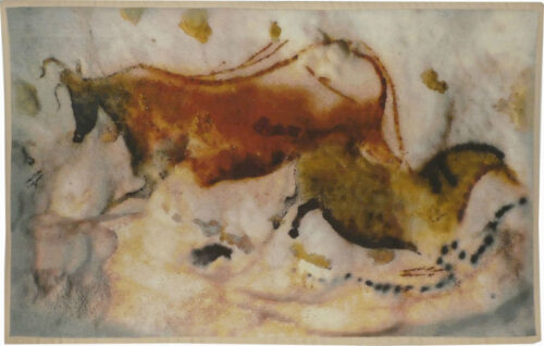 Ancient Cow and Horse tapestry - Lascaux tapestry wallhanging