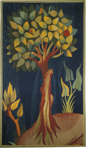 Apocalypse Tapestry Fruit Tree - 14th century medieval tapestries
