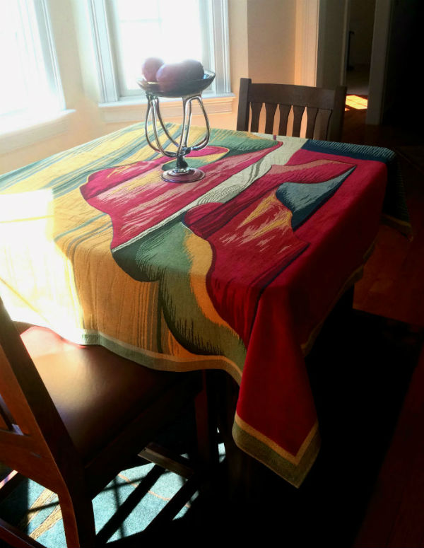 Apocalypse tapestries - medieval tablecloth or throw