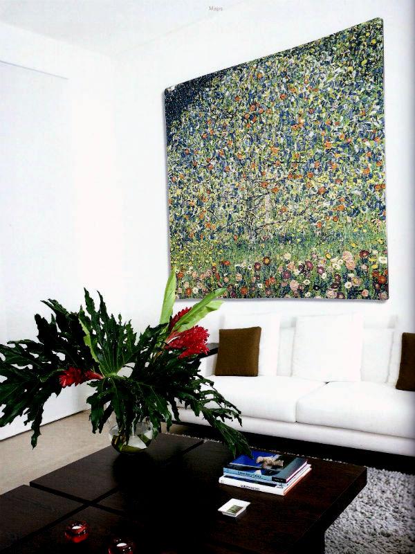 Art Nouveau wallhanging - Gustav Klimt Apple Tree tapestry
