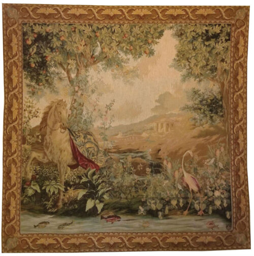 At the Water tapestry - Tentures des Indes tapestries