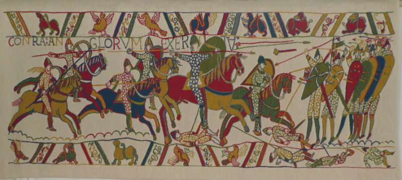 The Bayeux Tapestry Battle - Hastings 1066 - woven in France