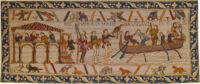 Bayeux Tapestry: King Harold leaves for Normandy