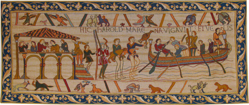 Bayeux Tapestry King Harold leaves for Normandy