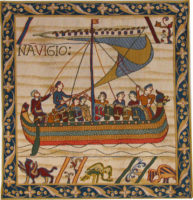Bayeux Tapestry Navigio - Duke William sailing tapestries