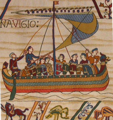 Bayeux Tapestry Norman ship - medieval tapestries for sale