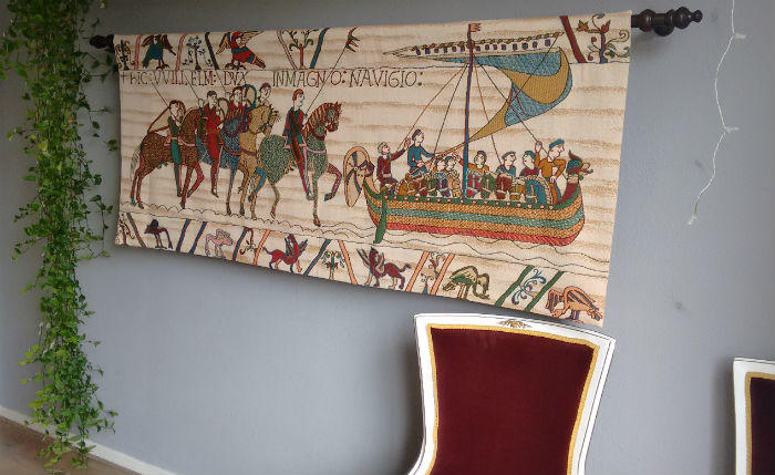 Bayeux Tapestry - Duke William Embarks - ship and horses