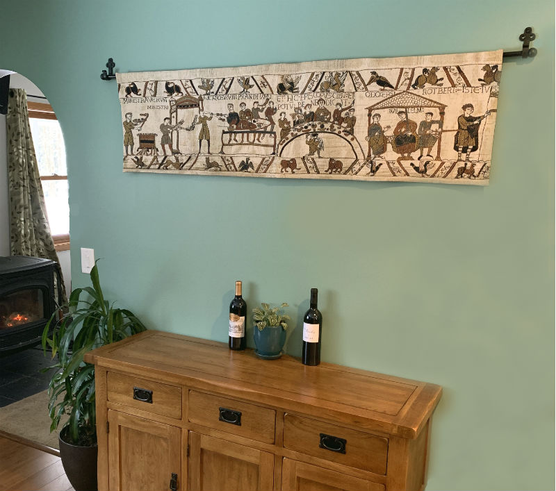 Bayeux Tapestry feast wallhanging scene
