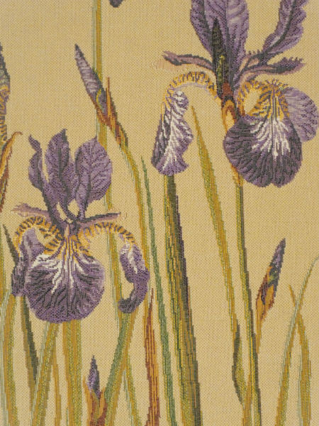 Bearded Irises tapestry detail