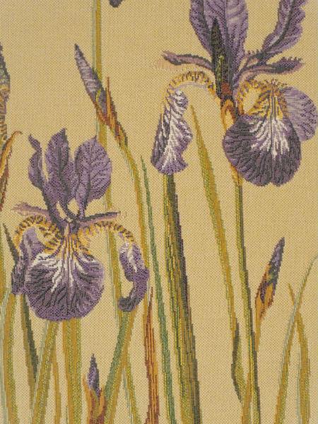 Bearded Irises tapestry detail