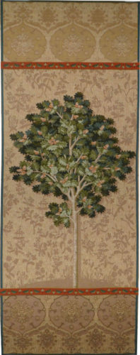 Beige Oak Tree tapestry - Lady and the Unicorn tapestries