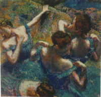 Blue Dancers Degas tapestry - ballet dancing tapestries