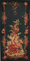 Blue Floral Portiere - sale tapestry wallhangings - woven in France