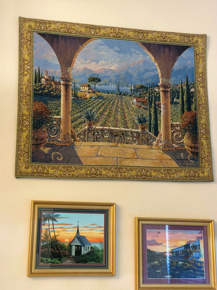 Bob Pejman Lakeside Vineyard Tapestry