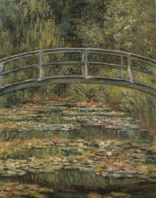 Bridge at Giverny tapestry - Claude Monet gardens