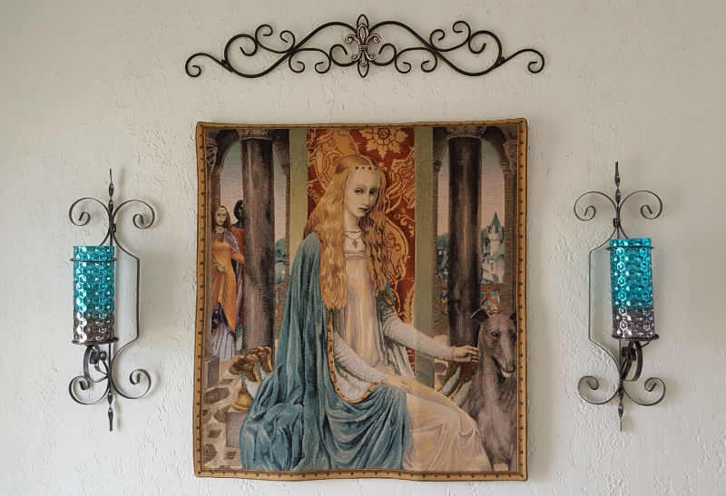 Camelot tapestry - Lady Guinevere wallhanging