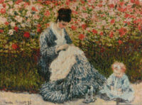 Camille and a Child in the Garden - Claude Monet tapestries