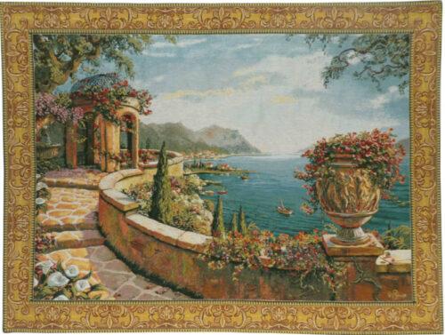 Capri wall tapestry - Robert Pejman art - Belgian tapestries