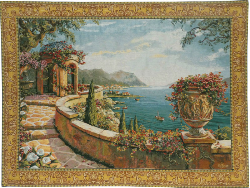 Capri wall tapestry - Robert Pejman art - Belgian tapestries