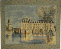 Chateau of Chenonceau tapestry - woven in France