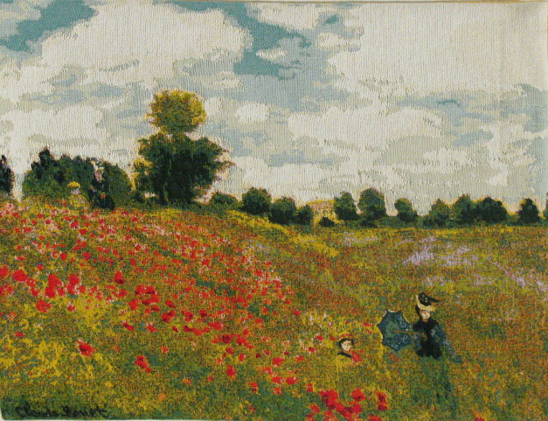 Claude Monet Poppies Tapestry Impressionist Wall Tapestries