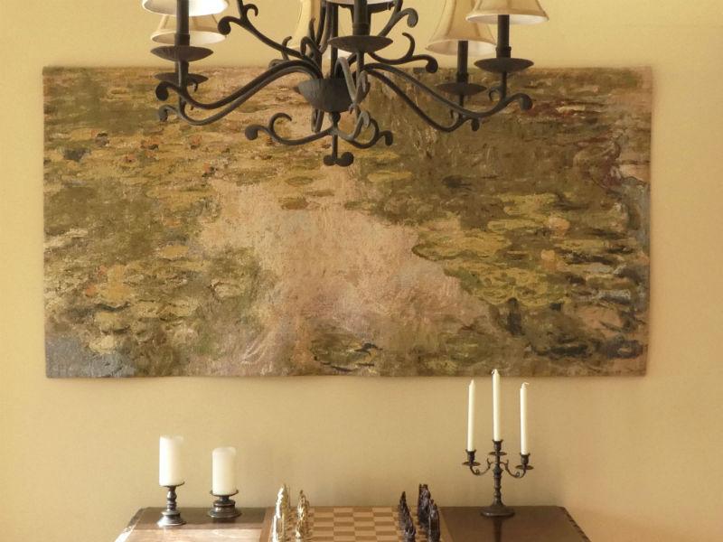 Claude Monet Waterlilies tapestry hanging