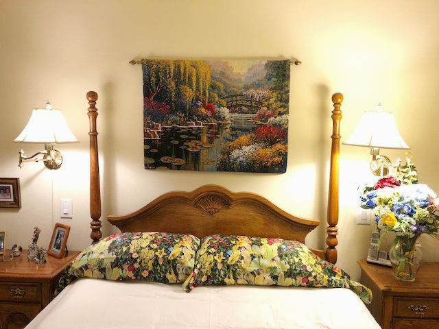 Claude Monet's gardens tapestries - Giverny Pond Belgian tapestry hanging