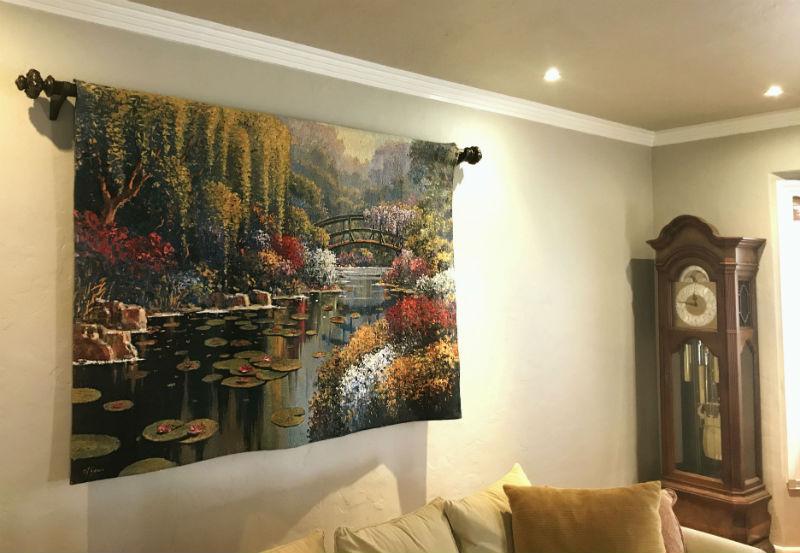 Claude Monts gardens tapestries