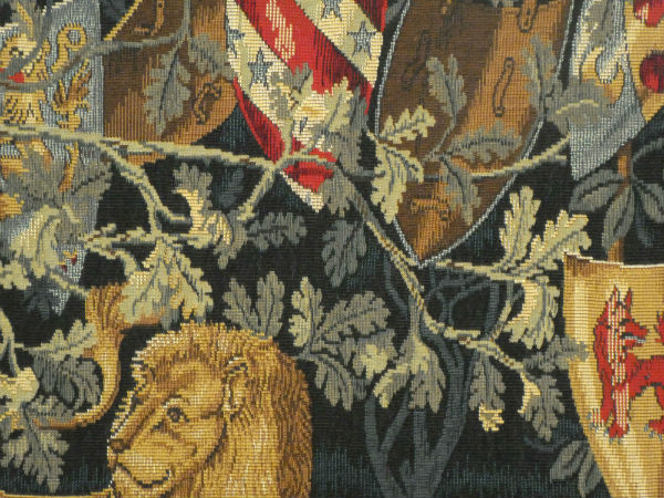 Close-up detail - Arts and Crafts tapestry